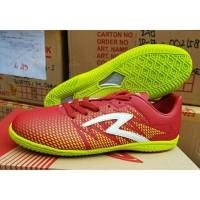 Sepatu Futsal Specs Apache Dark Red Solar Slime