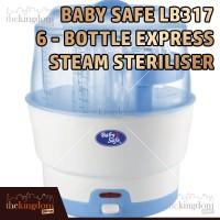 Baby Safe LB317 Sterilizer 6-bottle Express Steam Alat Steril Botol