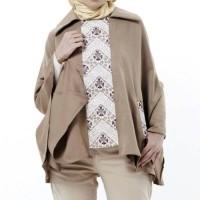Atasan Blouse Wanita Creamy Batik Coat Aralus Premium Edition