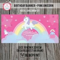 Banner/Backdrop Ulang Tahun Unicorn