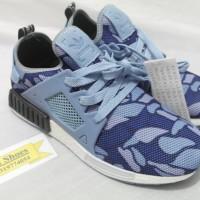 Sepatu Adidas NMD R1 x Bape Duck Camo Blue