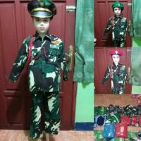 Promo kostum TNi doreng anak TK/baju karnaval