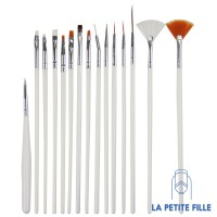 Nail Art: Accessories - Painting Draw Pen Brush Tools (15 pcs/Set)