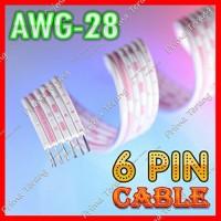 Kabel Pita 6 pin flat 6 jalur pelangi cable 6pin 10cm (0,1 meter)