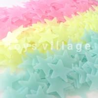 100Pc Glow in The Dark Star / Bintang - Stiker Dinding / Wall Sticker