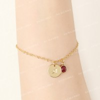 Bauble Bible Fay Monogram Bracelet Perhiasan Gelang Inisial Lapis Emas