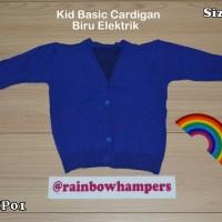 Cardigan Rajut Baju Jaket Polos Anak Warna Panjang Halus Hangat