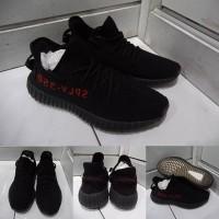 Sepatu Kets Sneakers Adidas Yeezy 350 V 2 SPLY Pirate Black Red Hitam