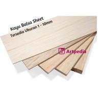 kayu balsa sheet 8mm ukuran 10cm x 100cm