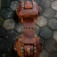 side bag leather ( tas motor kulit)