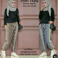 celana jogger batik wanita joger pants muslim hijab xl jumbo bigsize