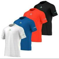 Kaos Tshirt Baju Combed 30S Distro Adidas Strip Gym olahraga sport