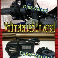 Voltmeter usb charger hp motor di stang jepit universal r15 cb 150 cbr