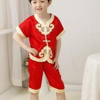 Baju Setelan Cheongsam Anak Laki