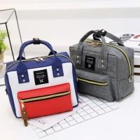 Tas selempang anello canvas import - tas jinjing handbag kanvas 2 way