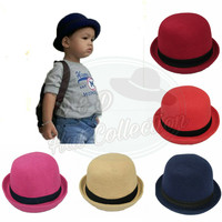Topi Bowler / topi fedora chaplin Anak