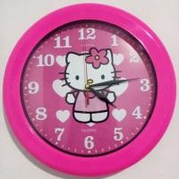 Jam Dinding OGANA QUARTZ Hello Kitty Besar Diameter 30 cm Wall Clock