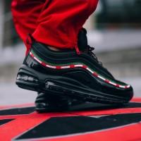 sepatu Undefeated x Nike Air Max 97 black gorge green hitam hijau