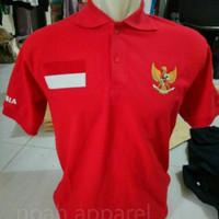 kaos kerah timnas indonesia real pict/polo shirt/poloshirt