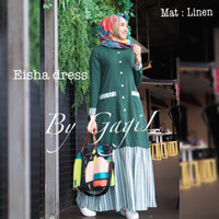 READY STOK GAMIS LINEN PREMIUM EISHA DRESS BY GAGIL/GAMIS SYAR'I BUSUI