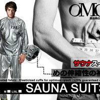 Baju Sauna Suit pakaian OMG jaket celana olah raga allsize