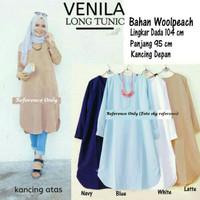 baju atasan wanita baju muslim  venila long tonic blouse Muslim