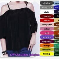 Sabrina Off Shoulder Top Blouse Atasan Kaos