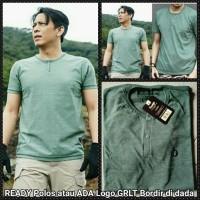 Henley pendek Hijau Ariel Noah T-shirt GRLT / Kaos Baju Greenlight