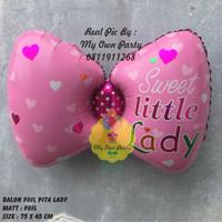 Balon Foil PITA LADY / Balon Foil Baby Girl / Balon Baby Shower