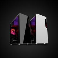 Termurah Cube Gaming Vemuc Black - Atx - Full Acrylic Window - 1X12Cm