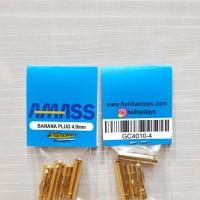 AMASS GC4010 GOLD PLATED HIGH CURRENT BANANA PLUG 4.0MM (2 SET)