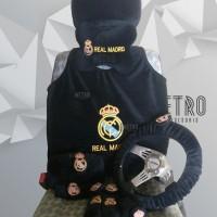 Real Madrid 8 in 1 Extra Bantal Set, Interior Aksesoris Mobil, Cover