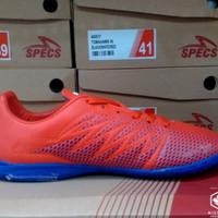 [Original] Sepatu Futsal Specs Apache In Red/Merah Poppy Blue/Biru