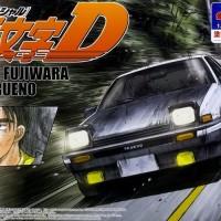 Aoshima 1/24 Initial D Takumi Fujiwara AE86 Trueno Project D Prepaint