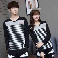 Baju Couple Lengan Panjang / Kaos pasangan / Kopel Desay 10919