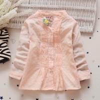 Kemeja anak perempuan. baju blouse anak peach. BC1781 - Raisa PINK