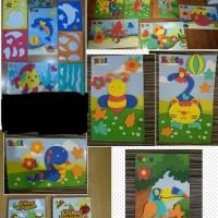Mainan Edukasi Sticker Eva Foam Diy stiker activity animal kingdom