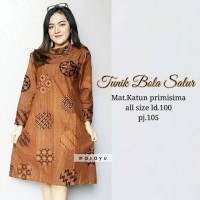 Baju Batik Solo. Batik Ayusari. Tunik Batik Floris Bola Series