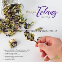 Bunga Telang Kering Blue Tea Asian Pigeonwings Bluebellvine Dry 100 gr