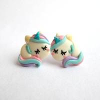 anting tusuk unicorn kuda poni little pony import murah grosir clay