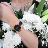 DANIEL WELLINGTON DW CLASSIC BLACK PETITE ASHFIELD 32MM ORIGINAL