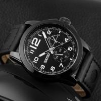 Jam Tangan SKMEI 9111CL 9111 Kulit Leather Original