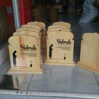 Sutrah / Sutroh / Pembatas Shof Sholat bahan Kayu Pinus