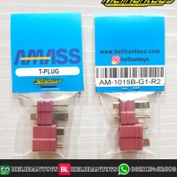 AMASS AM-1015B T-PLUG DEANS 25A MALE AND FEMALE SET (RED) #AM-1015B