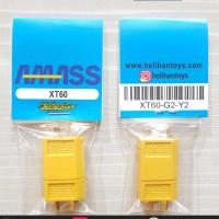 AMASS XT60 CONNECTOR GOLD PLATED 30A MALE AND FEMALE SET (YELLOW)