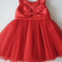 Melinda Red baju pesta anak Happyelm size 6