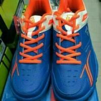 Sepatu Badminton bulutangkis RS Sirkuit 567 Blue Orange Original MURAH