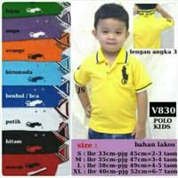 Baju Kaos Atasan Polo Anak Cowok Cewek Boy Girl Kids Laki Perempuan