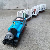 mainan kereta Thomas Dinosaurus baterai - anak edukatif - edukasi