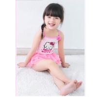 baju renang motif hello kitty pink / swimsuit HK Pink